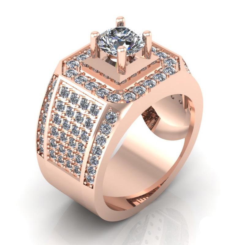 Nhẫn hồng đính nhiều đá