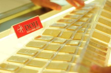Giá vàng miếng DOJI giảm tới 650.000
