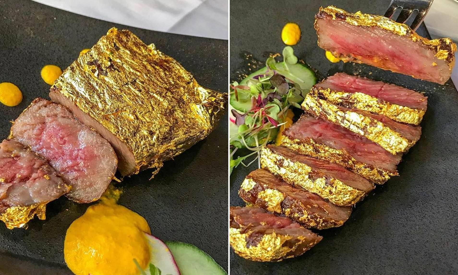 Bò bít tết dát vàng